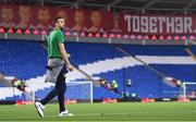 9 October 2017; Shane Duffy of Republic of Ireland prior to the FIFA World Cup Qualifier Group D match between Wales and Republic of Ireland at Cardiff City Stadium in Cardiff, Wales. Photo by Stephen McCarthy/Sportsfile