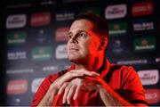 10 October 2017; Munster director of rugby Rassie Erasmus during a Munster Rugby Press Conference at University of Limerick in Limerick. Photo by Diarmuid Greene/Sportsfile