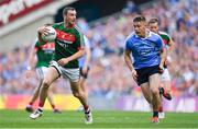 17 September 2017; Keith Higgins of Mayo in action against Con O'Callaghan of Dublin during the GAA Football All-Ireland Senior Championship Final match between Dublin and Mayo at Croke Park in Dublin. Photo by Brendan Moran/Sportsfile