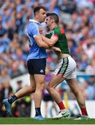 17 September 2017; Cormac Costello of Dublin and Brendan Harrison of Mayo during the final stages of the GAA Football All-Ireland Senior Championship Final match between Dublin and Mayo at Croke Park in Dublin. Photo by Brendan Moran/Sportsfile