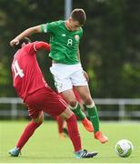 10 October 2017; Jayson Molumby of Republic of Ireland in action against Lazar Kojic of Serbia during the UEFA European U19 Championship Qualifier match between Republic of Ireland and Serbia at RSC in Waterford. Photo by Matt Browne/Sportsfile