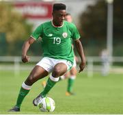 10 October 2017; Jonathan Afolabi of Republic of Ireland during the UEFA European U19 Championship Qualifier match between Republic of Ireland and Serbia at RSC in Waterford. Photo by Matt Browne/Sportsfile
