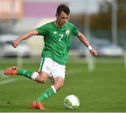 10 October 2017; Lee O'Connor of Republic of Ireland during the UEFA European U19 Championship Qualifier match between Republic of Ireland and Serbia at RSC in Waterford. Photo by Matt Browne/Sportsfile