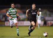 10 October 2017; Michael Duffy of Dundalk in action against Roberto Lopes of Shamrock Rovers during the Irish Daily Mail FAI Cup Semi-Final Replay match between Shamrock Rovers and Dundalk at Tallaght Stadium in Tallaght, Dublin. Photo by Seb Daly/Sportsfile