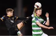 10 October 2017; Sean Gannon of Dundalk in action against Ronan Finn of Shamrock Rovers during the Irish Daily Mail FAI Cup Semi-Final Replay match between Shamrock Rovers and Dundalk at Tallaght Stadium in Tallaght, Dublin. Photo by Stephen McCarthy/Sportsfile