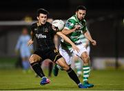 10 October 2017; Jamie McGrath of Dundalk in action against Roberto Lopes of Shamrock Rovers during the Irish Daily Mail FAI Cup Semi-Final Replay match between Shamrock Rovers and Dundalk at Tallaght Stadium in Tallaght, Dublin. Photo by Stephen McCarthy/Sportsfile