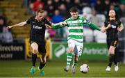 10 October 2017; Trevor Clarke of Shamrock Rovers in action against Sean Hoare of Dundalk during the Irish Daily Mail FAI Cup Semi-Final Replay match between Shamrock Rovers and Dundalk at Tallaght Stadium in Tallaght, Dublin. Photo by Stephen McCarthy/Sportsfile