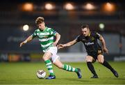 10 October 2017; Luke Byrne of Shamrock Rovers in action against Dylan Connolly of Dundalk during the Irish Daily Mail FAI Cup Semi-Final Replay match between Shamrock Rovers and Dundalk at Tallaght Stadium in Tallaght, Dublin. Photo by Stephen McCarthy/Sportsfile