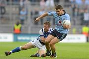 4 August 2012; Kevin McManamon, Dublin, in action against Cahir Healy, Laois. GAA Football All-Ireland Senior Championship Quarter-Final, Dublin v Laois, Croke Park, Dublin. Picture credit: Brian Lawless / SPORTSFILE