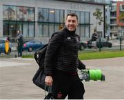 10 October 2017; Brian Gartland of Dundalk arrives prior to the Irish Daily Mail FAI Cup Semi-Final Replay match between Shamrock Rovers and Dundalk at Tallaght Stadium in Tallaght, Dublin. Photo by Seb Daly/Sportsfile