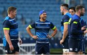 13 October 2017; Leinster's Jamison Gibson-Park, centre, during their captains run at the RDS Arena in Dublin. Photo by Ramsey Cardy/Sportsfile