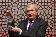 13 October 2017; Ard Stiúrthoir Paraic Duffy is presented with the 2017 GWA Special Merit Award at the Gaelic Writers Association Awards 2017 at the Jackson Court Hotel, Harcourt Street, in Dublin. Photo by Piaras Ó Mídheach/Sportsfile