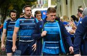 14 October 2017; Jack Conan of Leinster arrives ahead of the European Rugby Champions Cup Pool 3 Round 1 match between Leinster and Montpellier at the RDS Arena in Dublin. Photo by Ramsey Cardy/Sportsfile