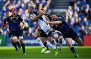 14 October 2017; Jesse Mogg of Montpellier is tackled by Barry Daly of Leinster during the European Rugby Champions Cup Pool 3 Round 1 match between Leinster and Montpellier at the RDS Arena in Dublin. Photo by Ramsey Cardy/Sportsfile