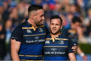 14 October 2017; Jack Conan, left, and Jamison Gibson-Park of Leinster following the European Rugby Champions Cup Pool 3 Round 1 match between Leinster and Montpellier at the RDS Arena in Dublin. Photo by Stephen McCarthy/Sportsfile