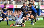 14 October 2017; Isa Nacewa of Leinster is tackled by Kelian Galletier of Montpellier during the European Rugby Champions Cup Pool 3 Round 1 match between Leinster and Montpellier at the RDS Arena in Dublin. Photo by Ramsey Cardy/Sportsfile
