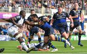 14 October 2017; Isa Nacewa of Leinster is tackled by Yacouba Camara of Montpellier during the European Rugby Champions Cup Pool 3 Round 1 match between Leinster and Montpellier at the RDS Arena in Dublin. Photo by Ramsey Cardy/Sportsfile