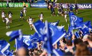 14 October 2017; Leinster players congratulate team-mate Barry Daly on scoring their fourth try during the European Rugby Champions Cup Pool 3 Round 1 match between Leinster and Montpellier at the RDS Arena in Dublin. Photo by Stephen McCarthy/Sportsfile