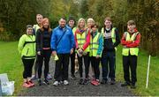 14 October 2017; Event Director Gerry Campbell with his stewards bfore the parkrun Ireland in partnership with Vhi, added their 81st event on Saturday, October 14th, with the introduction of the Monaghan Town parkrun. parkruns take place over a 5km course weekly, are free to enter and are open to all ages and abilities, providing a fun and safe environment to enjoy exercise. To register for a parkrun near you visit www.parkrun.ie. New registrants should select their chosen event as their home location. You will then receive a personal barcode which acts as your free entry to any parkrun event worldwide. Photo by Oliver McVeigh/Sportsfile