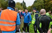 14 October 2017 ; Event Director Gerry Campbell talking to his stewarts before the  parkrun Ireland in partnership with Vhi, added their 81st event on Saturday, October 14th, with the introduction of the Monaghan Town parkrun. parkruns take place over a 5km course weekly, are free to enter and are open to all ages and abilities, providing a fun and safe environment to enjoy exercise. To register for a parkrun near you visit www.parkrun.ie. New registrants should select their chosen event as their home location. You will then receive a personal barcode which acts as your free entry to any parkrun event worldwide. Photo by Oliver McVeigh/Sportsfile
