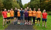 14 October 2017; A group of Park run regulars who attend lots of the events up and down the country pictured before the parkrun Ireland in partnership with Vhi, added their 81st event on Saturday, October 14th, with the introduction of the Monaghan Town parkrun. parkruns take place over a 5km course weekly, are free to enter and are open to all ages and abilities, providing a fun and safe environment to enjoy exercise. To register for a parkrun near you visit www.parkrun.ie. New registrants should select their chosen event as their home location. You will then receive a personal barcode which acts as your free entry to any parkrun event worldwide. Photo by Oliver McVeigh/Sportsfile