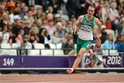 7 August 2012; Ireland's Paul Hession competes in his heat of the men's 200m where he finished in 5th place but failed to qualify for the semi-final. London 2012 Olympic Games, Athletics, Olympic Stadium, Olympic Park, Stratford, London, England. Picture credit: Brendan Moran / SPORTSFILE