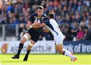 14 October 2017; James Ryan of Leinster is tackled by Thomas Darmon of Montpellier during the European Rugby Champions Cup Pool 3 Round 1 match between Leinster and Montpellier at the RDS Arena in Dublin. Photo by Stephen McCarthy/Sportsfile