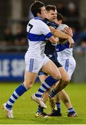 14 October 2017; Kevin McManamon of St Jude's in action against Brendan Egan, left, and Jarlath Curley of St Vincent's during the Dublin County Senior Football Championship Semi-Final match between St Vincent's and St Jude's at Parnell Park in Dublin. Photo by Piaras Ó Mídheach/Sportsfile