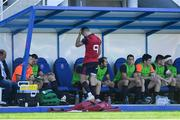 15 October 2017; Conor Murray of Munster looks on from the sin bin after Catres score their first try during the European Rugby Champions Cup Pool 4 Round 1 match between Castres Olympique and Munster at Stade Pierre Antoine in Castres, France. Photo by Brendan Moran/Sportsfile