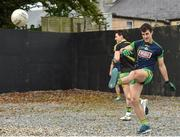 15 October 2017; Galway all Ireland winner Daithí Burke of Corofin warms up before the start of the Galway County Senior Football Championship Final match between Corofin and Mountbellew/Moylough at Tuam Stadium in Galway. Photo by Matt Browne/Sportsfile