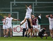 15 October 2017; Karl McKaigue, centre, of Slaughtneil celebrates at the final whistle, following his side's victory during the AIB Ulster GAA Football Senior Club Championship First Round match between Kilcoo and Slaughtneil at Páirc Esler in Down. Photo by Seb Daly/Sportsfile