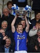 15 October 2017; Scotstown captain Donal Morgan lifts the Mick Duffy Cup after the Monaghan County Senior Football Championship Final match between Magheracloone and Scotstown at St Tiernach's Park in Monaghan. Photo by Philip Fitzpatrick/Sportsfile
