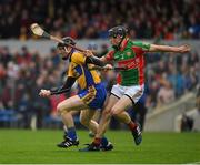 15 October 2017; Niall Gilligan of Sixmilebridge in action against Ruaidhrí McNamara of Clooney Quin, during the Clare County Senior Hurling Championship Final match between Clooney Quin and Sixmilebridge at Cusack Park in Ennis County Clare. Photo by Ray McManus/Sportsfile