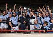 15 October 2017; Cathal King and Podge Kennedy of Na Piarsaigh lift the cup after the Limerick County Senior Hurling Championship Final match between Na Piarsaigh and Kilmallock at the Gaelic Grounds in Limerick. Photo by Diarmuid Greene/Sportsfile