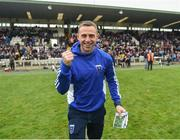 15 October 2017; Scotstown manager Kieran Donnelly celebrates after the Monaghan County Senior Football Championship Final match between Magheracloone and Scotstown at St Tiernach's Park in Monaghan. Photo by Philip Fitzpatrick/Sportsfile