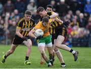 15 October 2017; Gary Sice of Corofin in action against Matthew Barrett and John Daly of Mountbellew/Moylough during the Galway County Senior Football Championship Final match between Corofin and Mountbellew/Moylough at Tuam Stadium in Galway. Photo by Matt Browne/Sportsfile