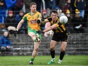 15 October 2017; Gary Sice of Corofin in action against Cathal Kenny of Mountbellew/Moylough during the Galway County Senior Football Championship Final match between Corofin and Mountbellew/Moylough at Tuam Stadium in Galway. Photo by Matt Browne/Sportsfile