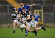 15 October 2017; James Ward of Magheracloone in action against James Hamill of Scotstown, during the Monaghan County Senior Football Championship Final match between Magheracloone and Scotstown at St Tiernach's Park in Monaghan. Photo by Philip Fitzpatrick/Sportsfile
