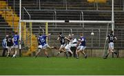 15 October 2017; Conor McCarthy of Scotstown scoring a goal, during the Monaghan County Senior Football Championship Final match between Magheracloone and Scotstown at St Tiernach's Park in Monaghan. Photo by Philip Fitzpatrick/Sportsfile
