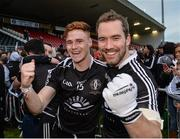 15 October 2017; Conor Meyler and Hugh Gallagher of Omagh St Enda's celebrate after the Tyrone County Senior Football Championship Final match between Errigal Ciaran and Omagh St Enda's at Healy Park in Tyrone. Photo by Oliver McVeigh/Sportsfile