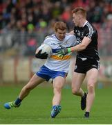 15 October 2017; Peter Harte of Errigal Ciaran in action against Conor Meyler of Omagh St Enda's during the Tyrone County Senior Football Championship Final match between Errigal Ciaran and Omagh St Enda's at Healy Park in Tyrone. Photo by Oliver McVeigh/Sportsfile