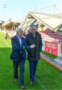 17 October 2017; FAI CEO John Delaney, right, speaking to Cork City FC Chairman Pat Lyons during a visit to Turners Cross to survey the ground's safety ahead of the SSE Airtricity League Premier Division match between Cork City and Derry City. Photo by Eóin Noonan/Sportsfile