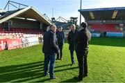 17 October 2017; FAI CEO John Delaney speaking to Cork City FC club administrator Éanna Buckley during a visit to Turners Cross to survey the ground's safety ahead of the SSE Airtricity League Premier Division match between Cork City and Derry City. Photo by Eóin Noonan/Sportsfile