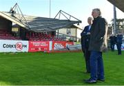 17 October 2017; FAI CEO John Delaney speaking with Cork City FC Chairman Pat Lyons during a visit to Turners Cross to survey the ground's safety ahead of the SSE Airtricity League Premier Division match between Cork City and Derry City. Photo by Eóin Noonan/Sportsfile