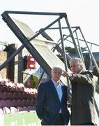 17 October 2017; FAI CEO John Delaney, right, speaking with Cork City FC Chairman Pat Lyons during a visit to Turner's Cross to survey the ground's safety ahead of the SSE Airtricity League Premier Division match between Cork City and Derry City. Photo by Eóin Noonan/Sportsfile