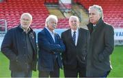 17 October 2017; FAI CEO John Delaney, right, with, from left, FAI Competition Director Fran Gavin, Cork City FC Chairman Pat Lyons and FAI President Tony Fitzgerald during a visit to Turners Cross to survey the ground's safety ahead of the SSE Airtricity League Premier Division match between Cork City and Derry City. Photo by Eóin Noonan/Sportsfile
