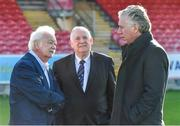 17 October 2017; FAI CEO John Delaney, right, with Cork City FC Chairman Pat Lyons, left, and FAI President Tony Fitzgerald during a visit to Turners Cross to survey the ground's safety ahead of the SSE Airtricity League Premier Division match between Cork City and Derry City. Photo by Eóin Noonan/Sportsfile