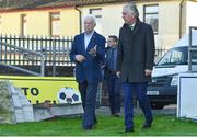 17 October 2017; FAI CEO John Delaney with Cork City FC Chairman Pat Lyons during a visit to Turners Cross to survey the ground's safety ahead of the SSE Airtricity League Premier Division match between Cork City and Derry City. Photo by Eóin Noonan/Sportsfile