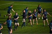 17 October 2017; Leinster players warm up during Leinster Rugby Squad Training at Donnybrook Stadium in Dublin. Photo by Cody Glenn/Sportsfile