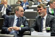 17 October 2017; Republic of Ireland Manager Martin O'Neill and Assistant Manager Roy Keane, during the 2018 FIFA World Cup European Play-off Draw at the Home of FIFA in Zurich, Switzerland. Photo by Gonzalo Garcia/Sportsfile
